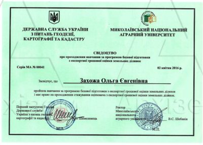 23-сертификат