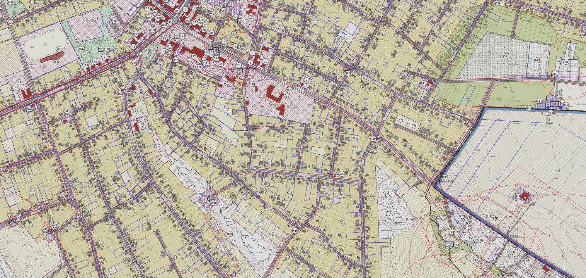 Генеральные планы-Планы зонирования-Детальные планы территории