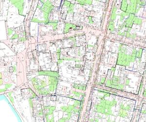 Фрагмент топографічного плану смт Овідіополь