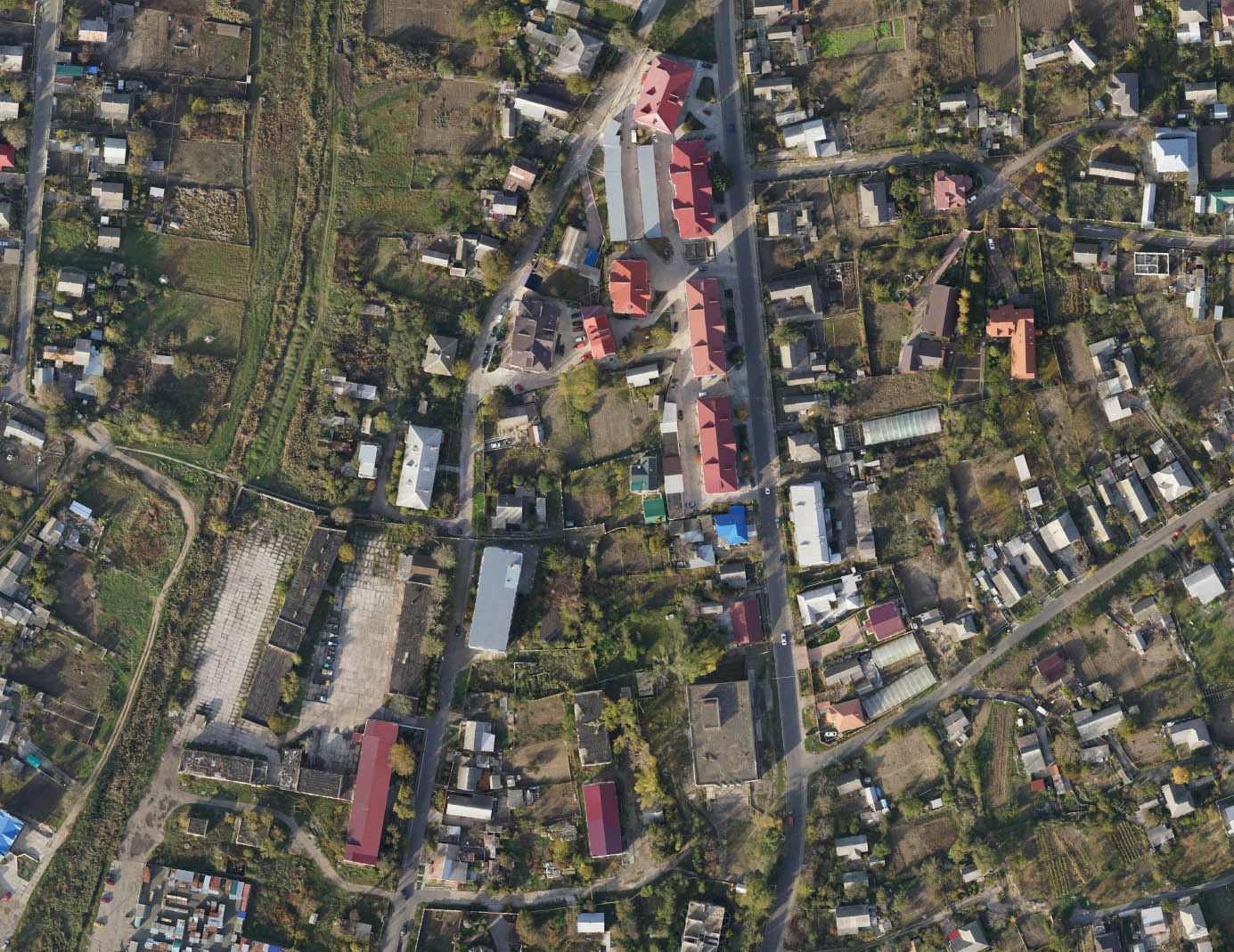 Фрагмент аерофотоабриса смт Овідіополь