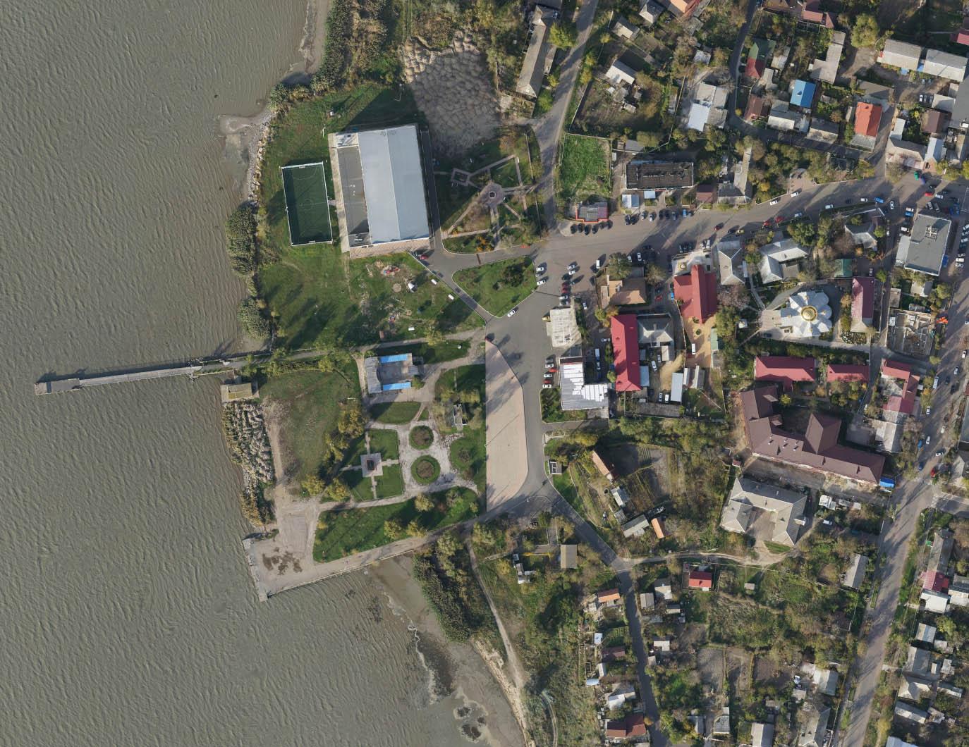 Фрагмент аерофотоабриса смт Овідіополь фото 2