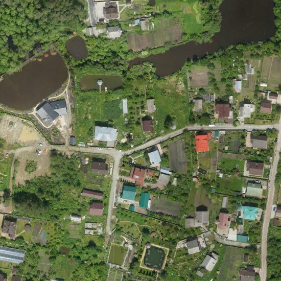 Фрагмент аерофотоабриса с. Довжик Житомирського району Житомирської області
