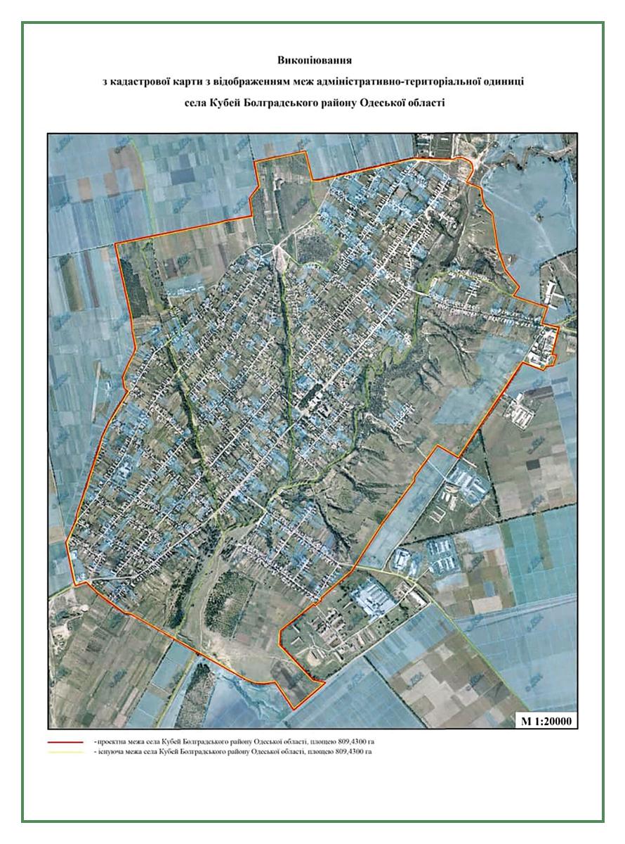 установление границ села Кубей
