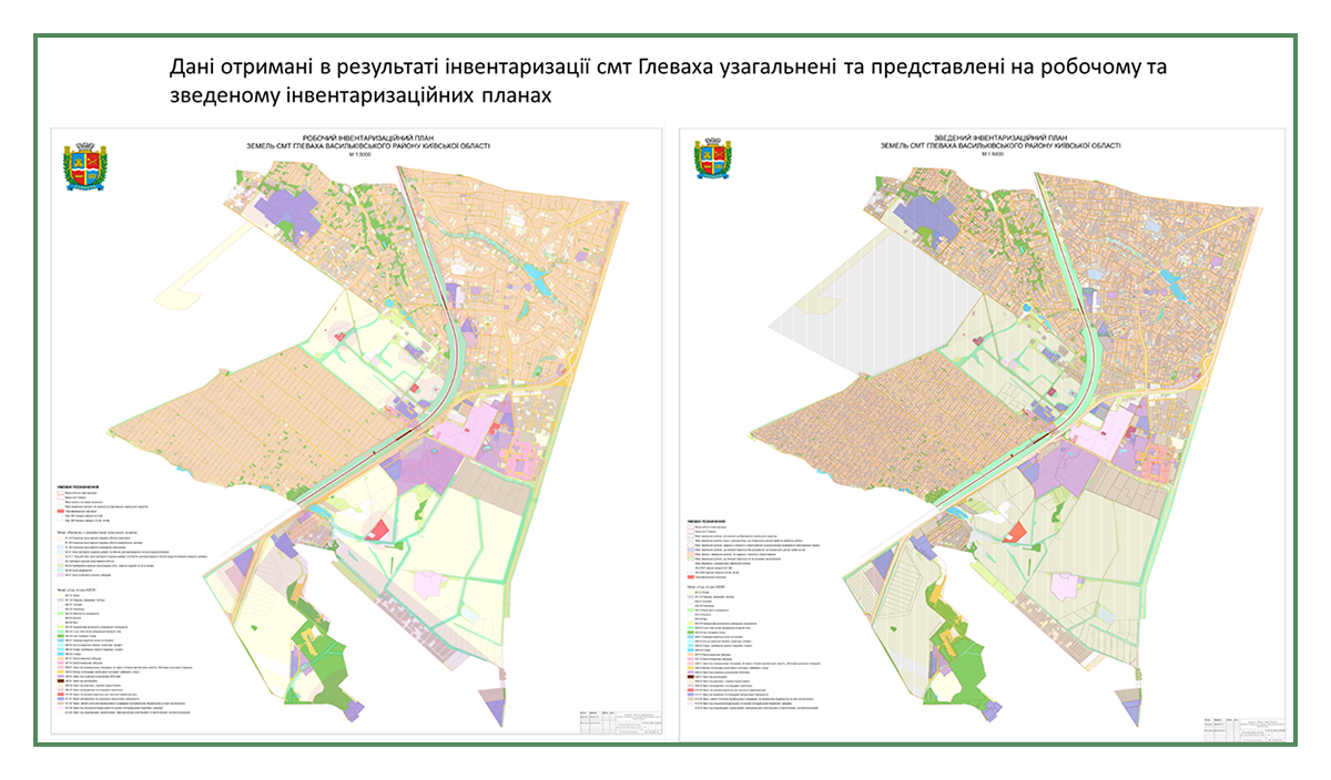 Инвентаризация земель пгт Глеваха