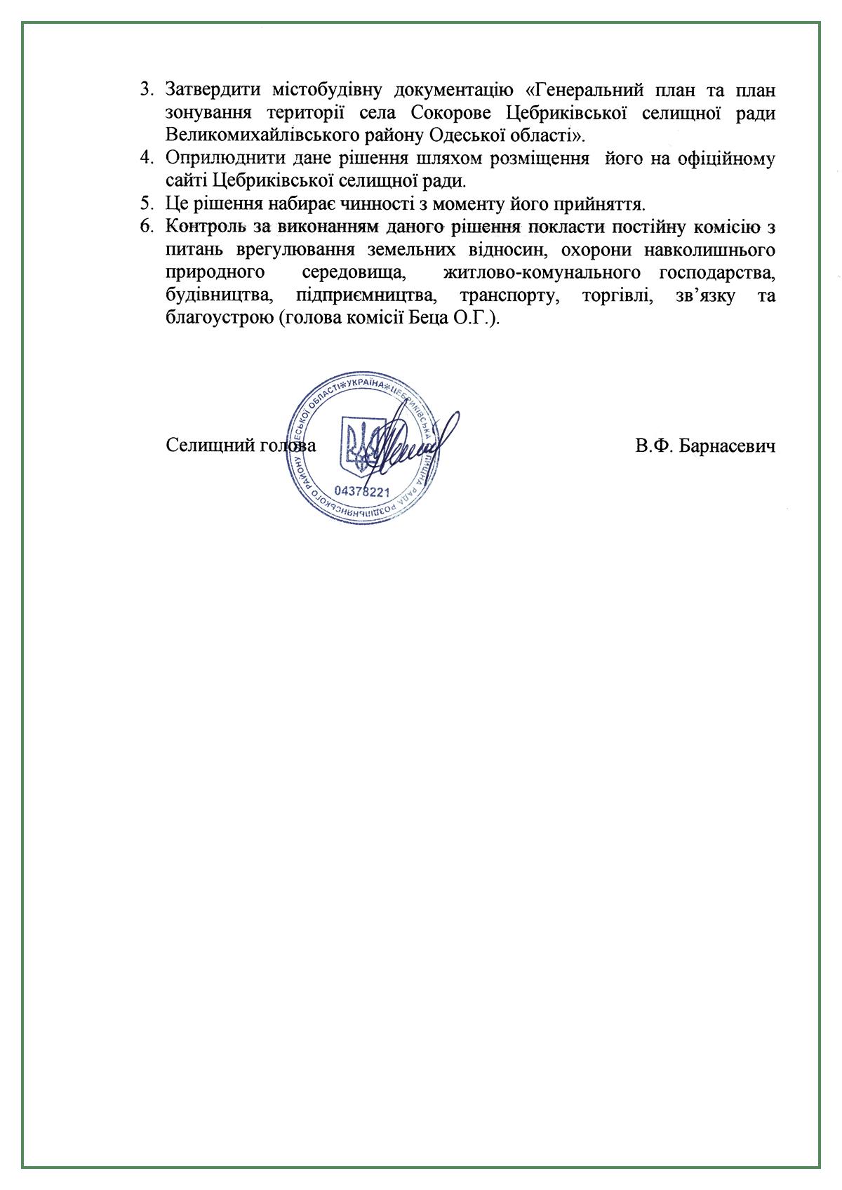 утвердили генплан Вишневое Привольное Сокорово