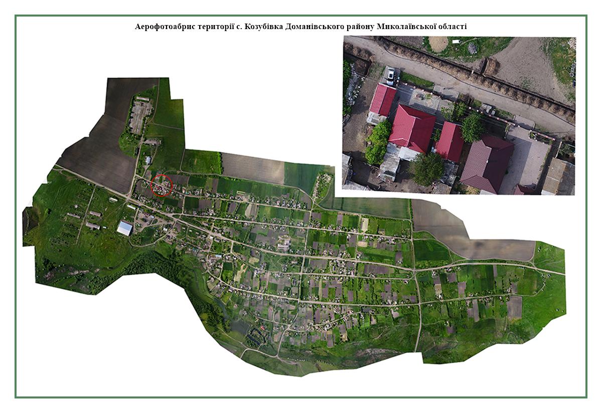 топооснова села Козубовка